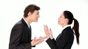 stock-footage-businessman-arguing-with-businesswoman-over-white-background