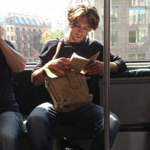 reading on bus